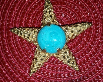 Vintage starfish pin