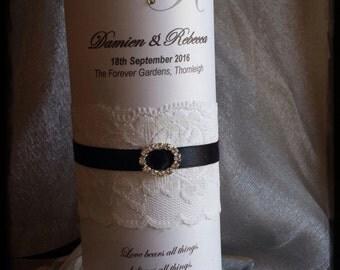 Personalised Wedding / Engagement Candle