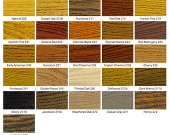 Wood Color Swatch (Set of 2 Stains)