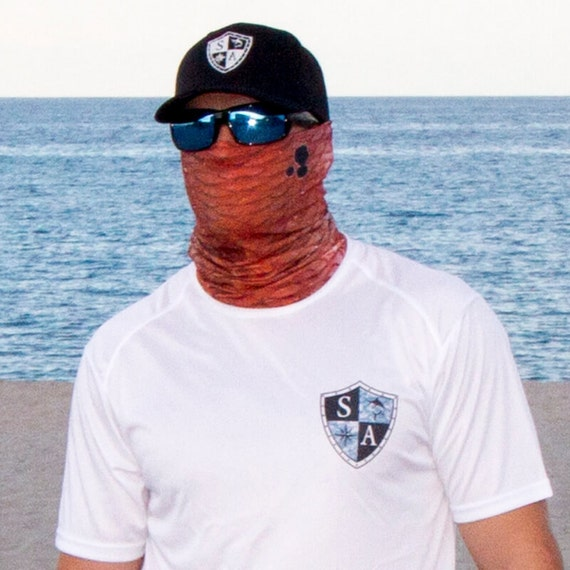 Multi use face shieldredfish skin for Sa fishing face shield review
