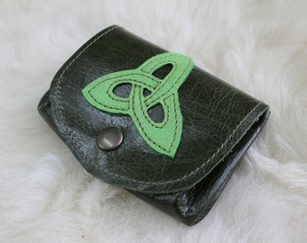 wallet green Celtic inspiration