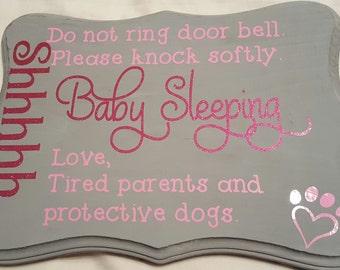 Baby Sleeping Sign