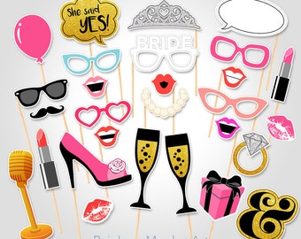 Bachelorette Party Printable Photo Booth Props