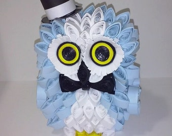 Mr. Goofy paper quilling owl
