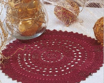 Crochet pattern placemat coasters doily doilies pattern Digital Download