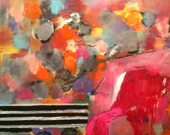 """Original abstract painting """"Catch me if you can"""""""