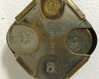 Brass coin holder