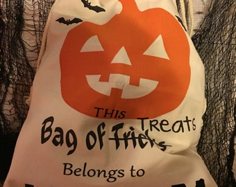Halloween sacks l trick or treat, trick or treat bags, halloween costume