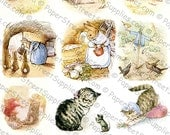 5-Pack of Beatrix Potter Illustrations #5 - Printable Digital Collage Sheets - Instant JPEG Downloads