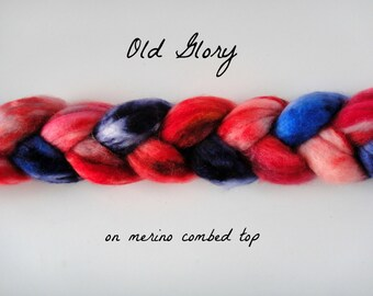 Old Glory, on Merino Combed Top Roving