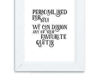 Personalised Print, Custom Quote, Digital Print, Wall Art