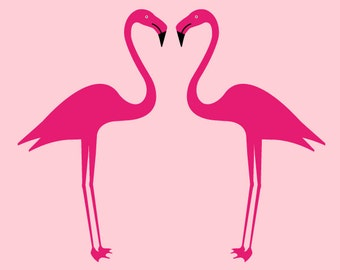 Lovely vector Flamingos
