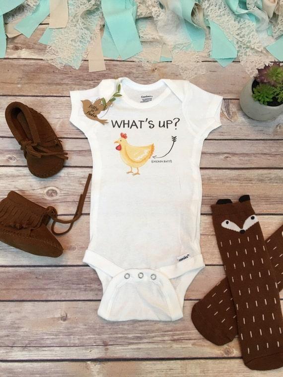 What S Up Chicken Butt Onesie 174 Baby Shower Gift By