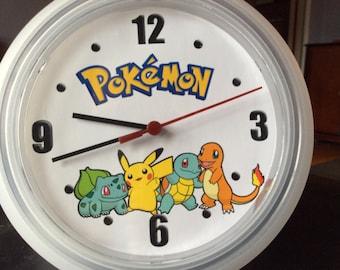 Pokemon Upcycled Wall Clock