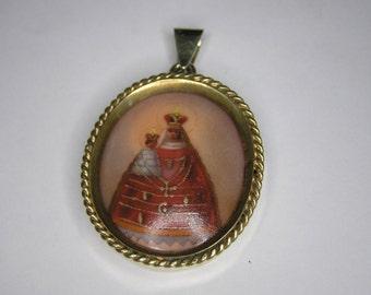 Antique Hand Painted Porcelain Medallion