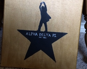 Alpha Delta Pi Canvas (Hamilton inspired)