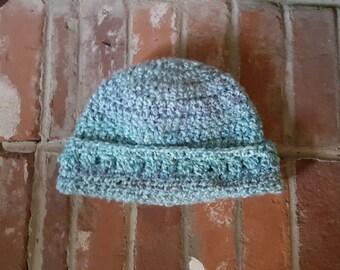 Crocheted Light Blue Hat
