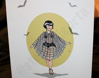 Spider Queen Greeting Card
