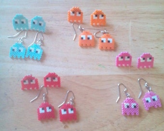 Pac Man Pixel Earrings