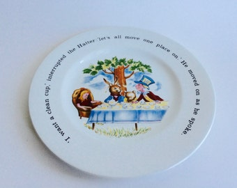 Johnson Brothers Ironstone Alice in Wonderland Plate/Alice In Wonderland/Ironstone/Ironstone Plate/Decorative Plate/Collectible Plate