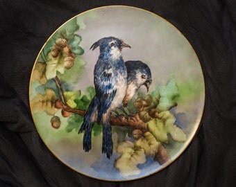 """T & V Limoges Hand Painted Charger Plate 13.5"""""""