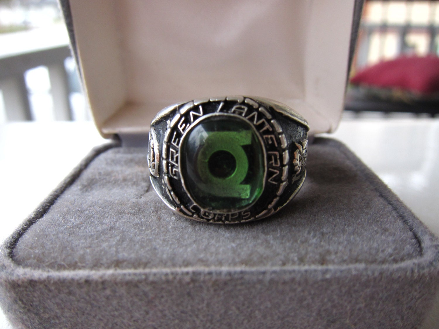 Oath Green Lantern Corps Ring Sterling Silver DC 925 Arroba