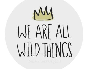 Where the Wild Things Are - Melamine Plate - Dinnerware for Kids