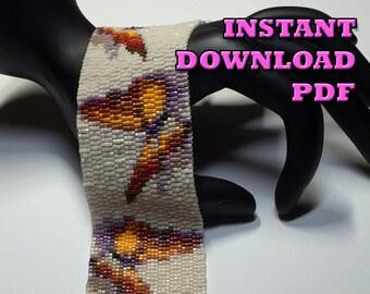 PATTERN - (3 Drop) Peyote - Butterfly Trio Bracelet
