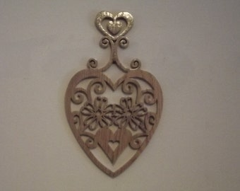 Handcrafted Heart Trivet/Wall Art Aroostook County Maine