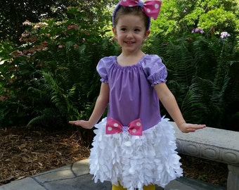 Daisy Duck Inspired Costume, Birthday Outfit, Halloween Costume, Disney Daisy Duck Outfit, Daisy Duck Dress up
