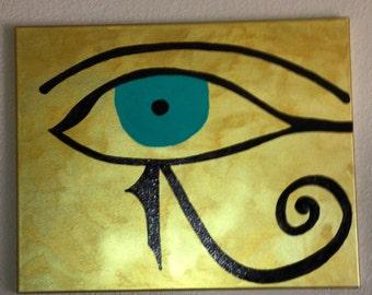 Egyptian Eye of Horus painting