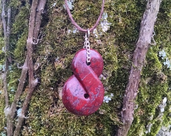 Red Jasper adjustable necklace.