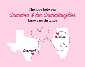 Gift for Grandma, Long Distance Grandmother, Mothers Day Gift for Grandma, from Granddaughter, Long Distance Grandma Gift Mother In Law Gift
