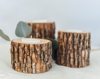 Wood Candle Holders, Candle Holders, Tea Light Candle Holders | Wood Candle Sticks | Wedding Decorations | Home Decor | Reclaimed Wood |