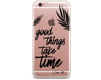 Clear iPhone 7 Case QUOTE iPhone 6 case clear, iPhone cases, iPhone 6 Plus Case clear iPhone X Case clear things quote Galaxy S5 case