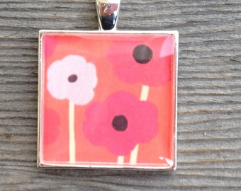 Orange Poppy Happy Pendant