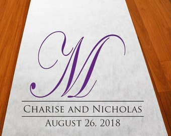 Regal Monogram Aisle Runner Personalized Wedding Aisle Runner (MIC-PRMAR51)
