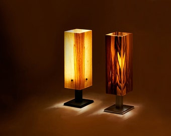 Table lamp table lamp wood veneer LED wood design