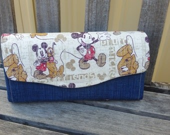 Mickey Mouse and Pluto Necessary Clutch Wallet