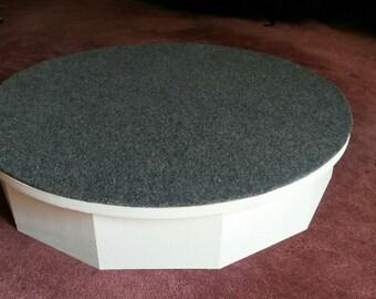 "Alteration Step-up Fitting Platform, 30"" diameter-round, wood"