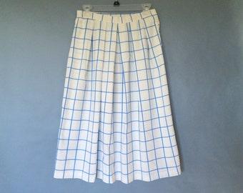 Vintage pleated midi maxi skirt size S