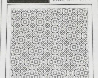 Japanese Olympus Sashiko Embroidery Sampler No.1024 -Crosses and Diamonds-