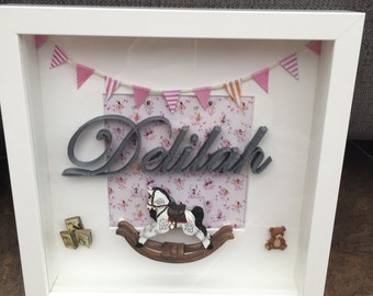New Baby Nursery Personalised frame