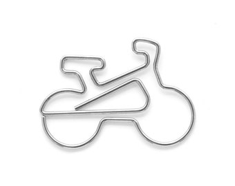 5  Bicycle Paper clips metal bookmarks