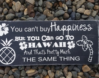 Hawaii is Happiness sign