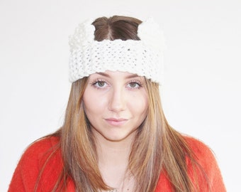 Knitted Cat Headband