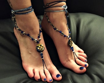 "Barefoot sandals ""Metal Peace"""