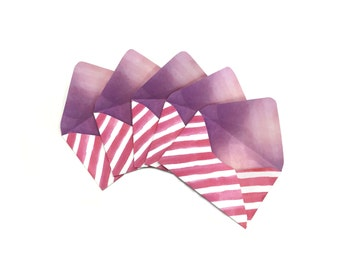 Handmade Envelopes - Candycane feelings