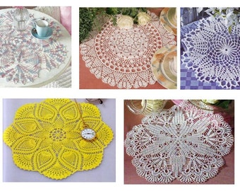 5 pcs crochet doily pattern-only diagram-in pdf-34