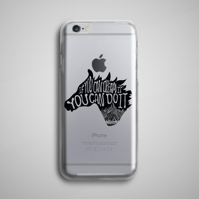 dream it do it horse clear iphone 8 case transparent iphone
